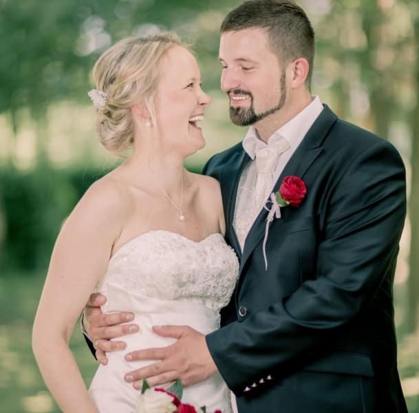 Spaß beim Hochzeits-Fotoshooting