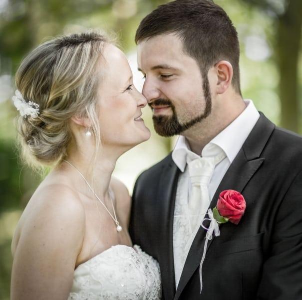 Braut und Bräutigam - ganz nah